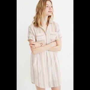 Madewell popover Curier shirtdress in rainbow Med